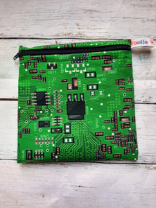 Electronic Circuits - Small Poppins Pouch Washable Snack Bag