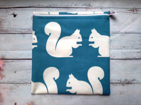 Big 'Ol Squirrel - Large Poppins Pouch - Waterproof, Washable, Food Safe