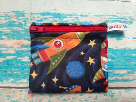 Rocket Robot - Pippins Poppins Pouch Snack Pouch, Coin Purse, Ear Bud Case