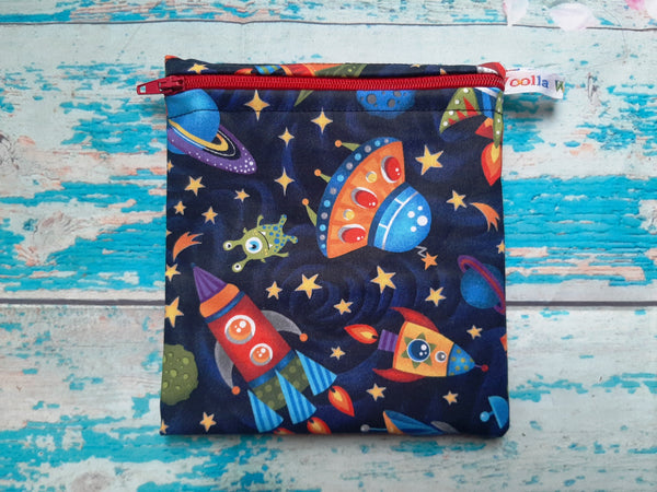 Rocket Robot - Small Poppins Pouch Washable Snack Bag
