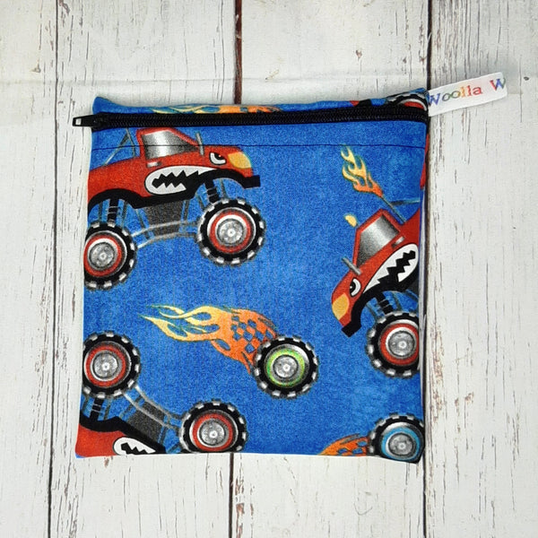 Monster Truck - Small Poppins Pouch Washable Snack Bag