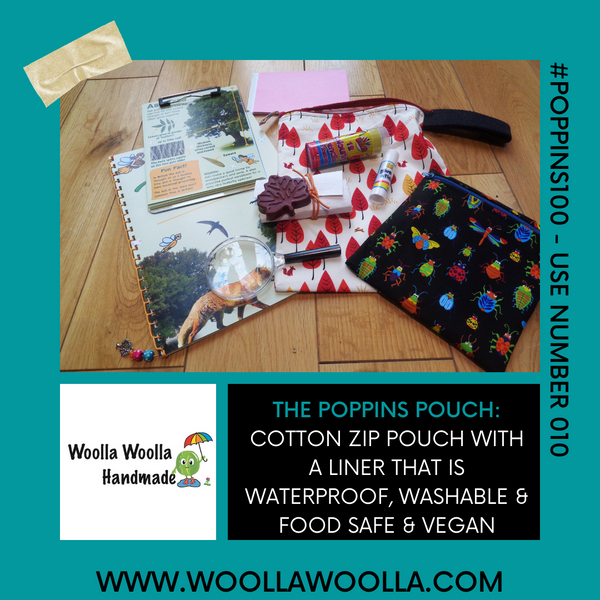 Black Multi Chilli Pepper - Handy Poppins Pouch Lunch Bag, Clutch