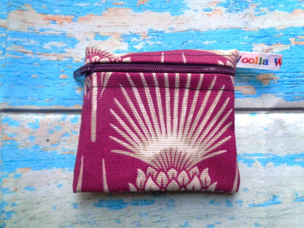 Purple Thistle - Pippins Poppins Pouch Snack Pouch, Coin Purse, Ear Bud Case