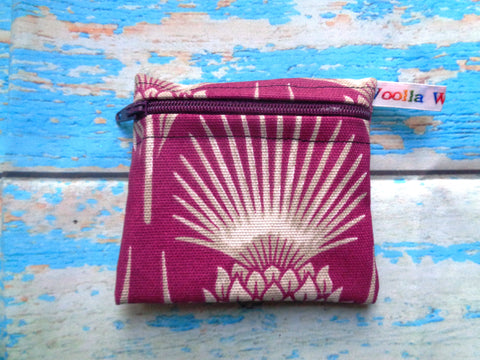 Purple Thistle - Pippins Poppins Pouch