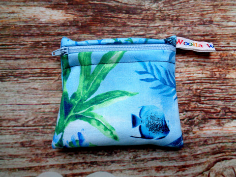 Sea Turtle 1 - Pippins Poppins Pouch Snack Pouch, Coin Purse, Ear Bud Case