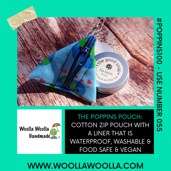 Wallowing Hippo - Tri-Keyring Poppins Pouch