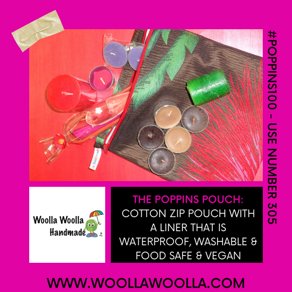 Onions Apples & Leeks - Large Poppins Pouch - Waterproof, Washable, Food Safe
