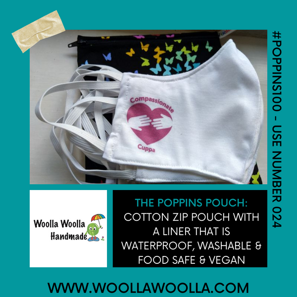 Baking Kitchen Whisk - Large Poppins Pouch - Waterproof, Washable, Food Safe