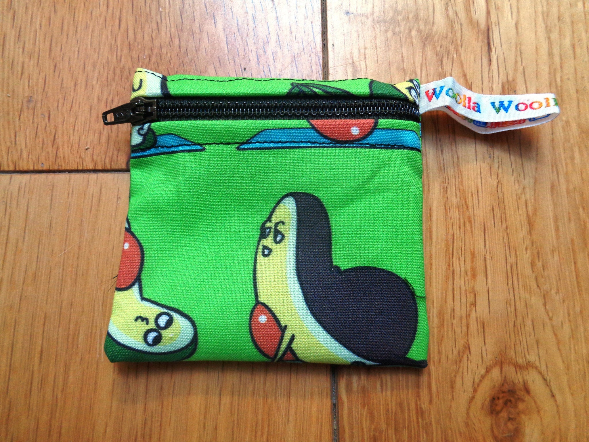 Avocado Yoga 3 - Pippins Poppins Pouch Snack Pouch, Coin Purse, Ear Bud Case