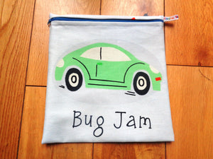 Bug Jam - Large Poppins Pouch - Waterproof, Washable, Food Safe