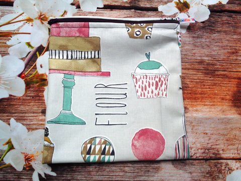 Baking Kitchen Flour - Large Poppins Pouch - Waterproof, Washable, Food Safe