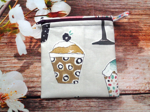 Baking Cup Cake - Small Poppins Pouch Washable Snack Bag