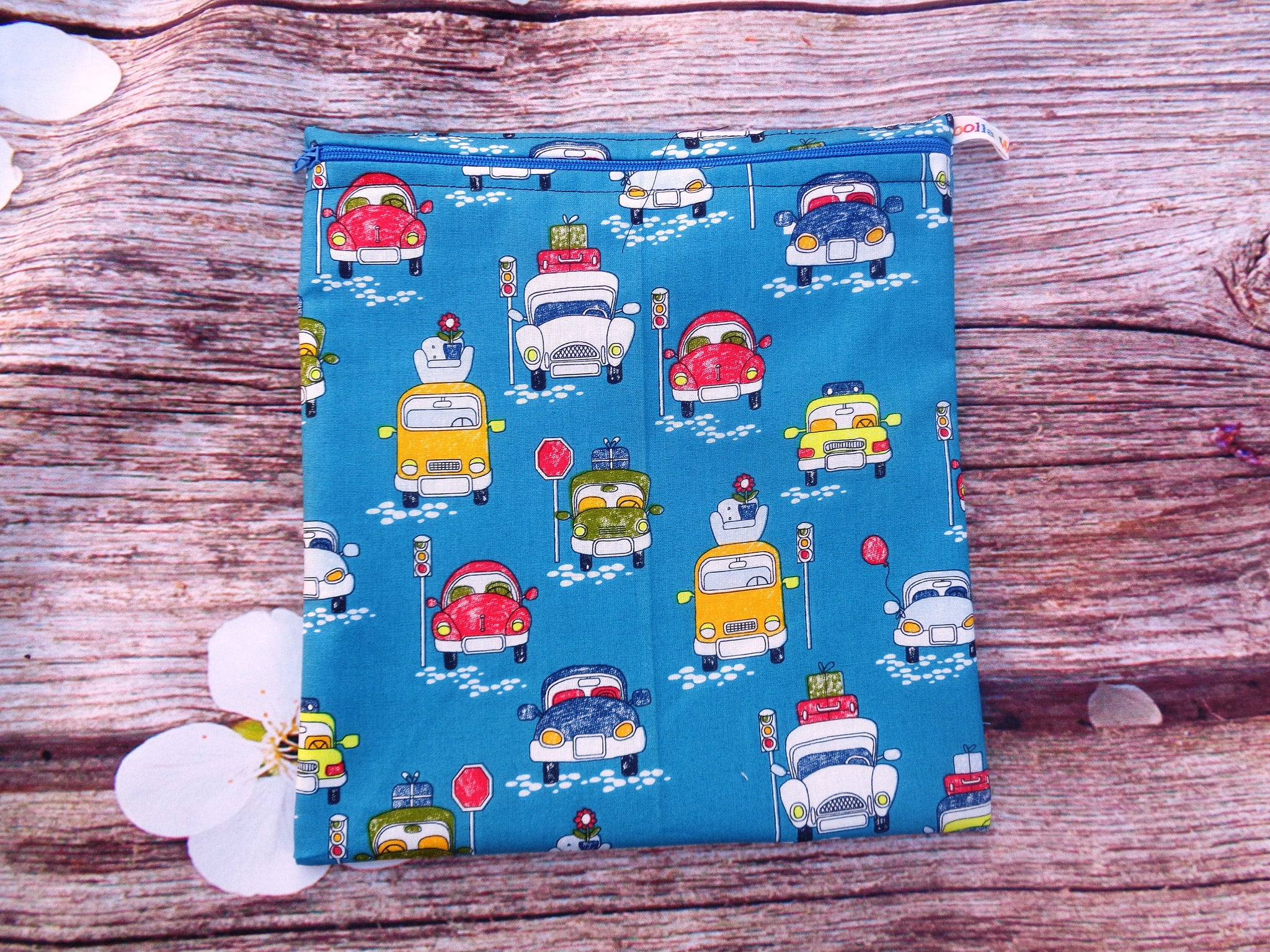 Cars Luggage - Large Poppins Pouch - Waterproof, Washable, Food Safe