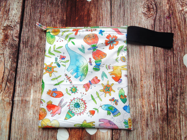 Elephant Butterfly Handy Poppins Pouch Lunch Bag, Clutch