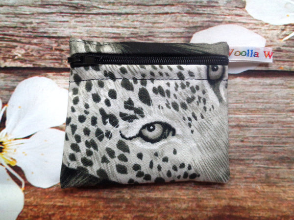Leopard Eyes - Pippins Poppins Pouch Snack Pouch, Coin Purse, Ear Bud Case