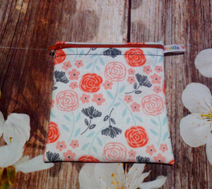 Russet Autumn Rose - Small Poppins Pouch Washable Snack Bag