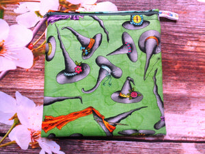 Green Witches Hat - Medium Poppins Pouch