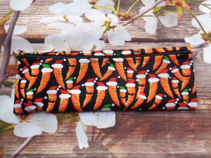 Christmas Carrot LZ - Long Zip Straw/Cutlery Poppins Pouch