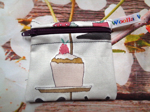 Baking Cake 1 - Pippins Poppins Pouch Snack Pouch, Coin Purse, Ear Bud Case