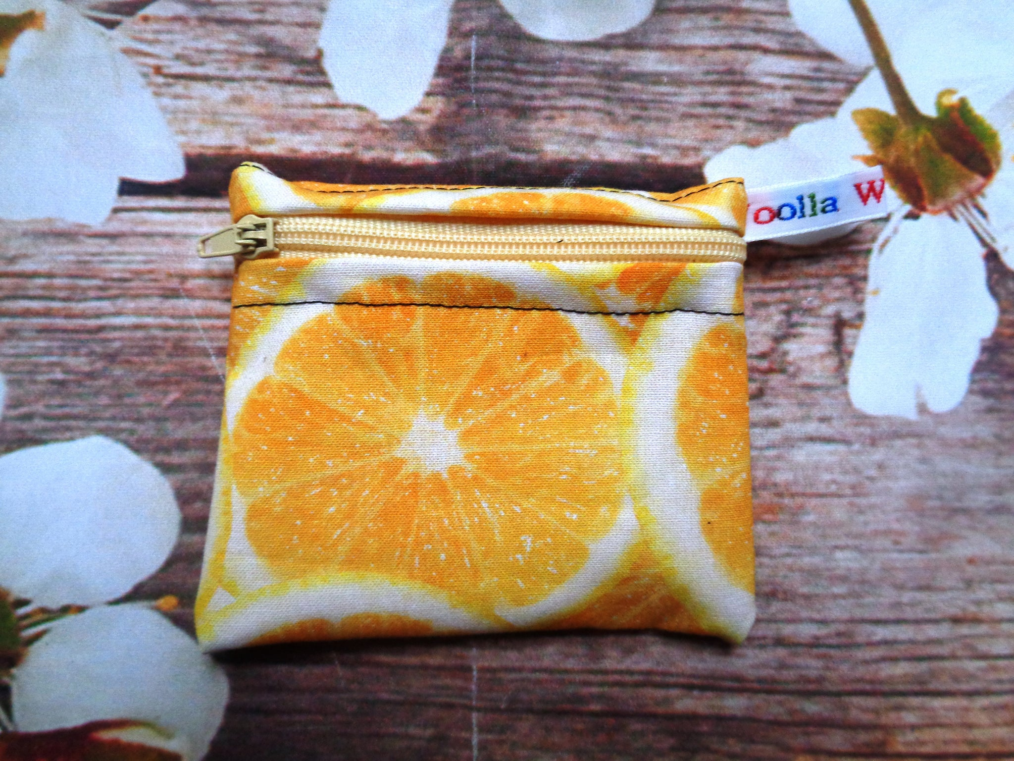 Orange Slices - Pippins Poppins Pouch Snack Pouch, Coin Purse, Ear Bud Case