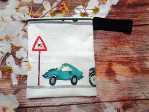 On the Road Sports Car Handy Poppins Pouch Lunch Bag, Clutch