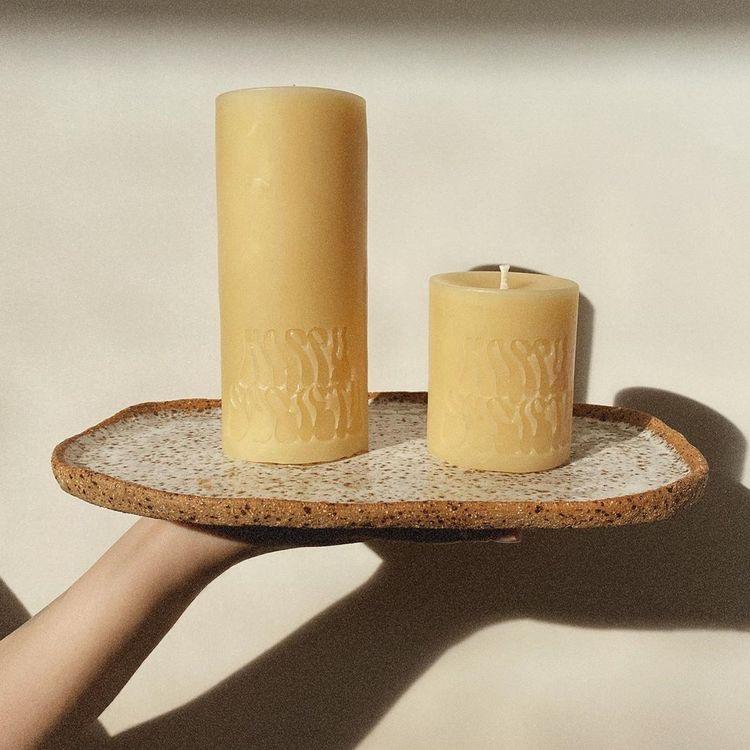 Happy Society Pillar Candles | Same Day Gift Delivery melbourne and Geelong