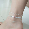 14K gold plated sequins ankle bracelet for women