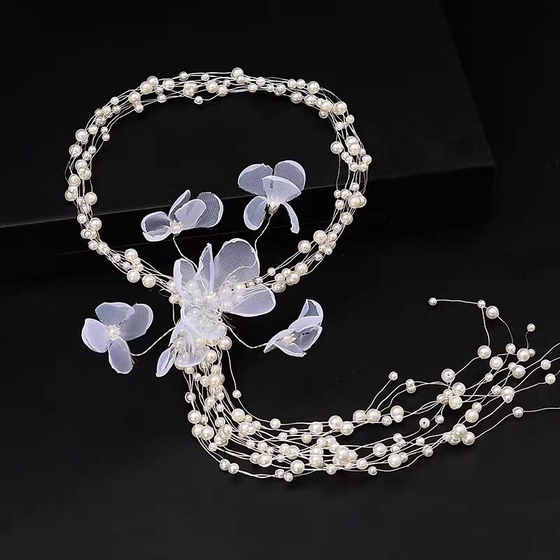 Flower and Pearl Hair Piece
