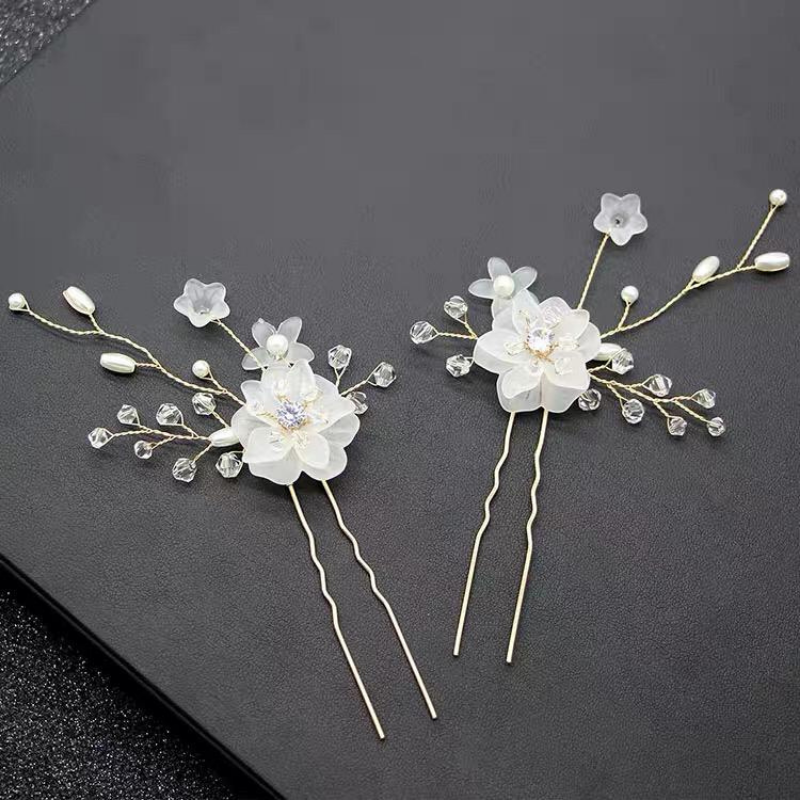 Glass Flower Clip Set