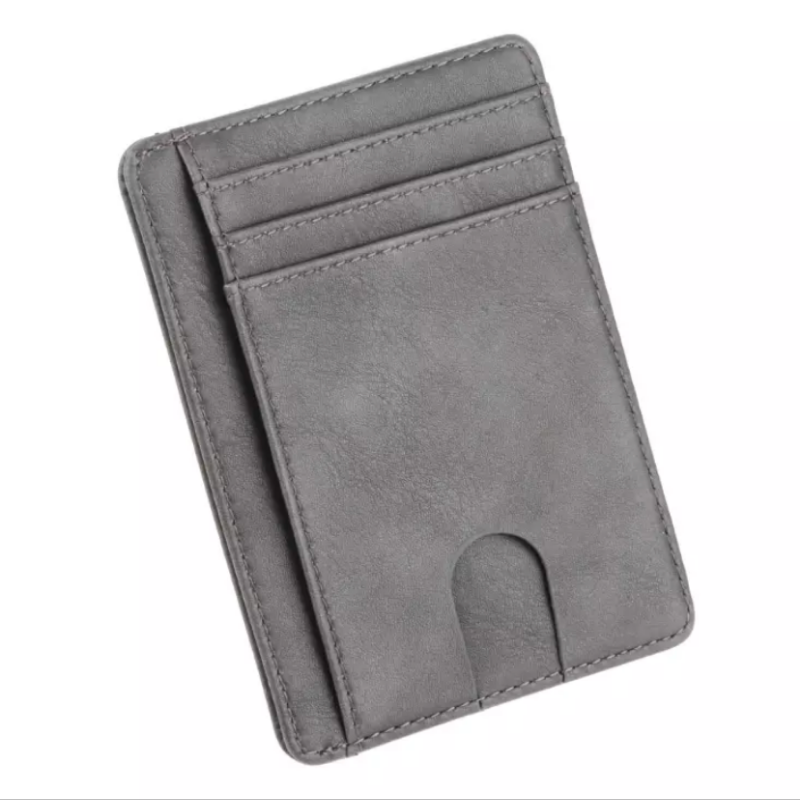 Unisex Slim Wallet Black / Brown