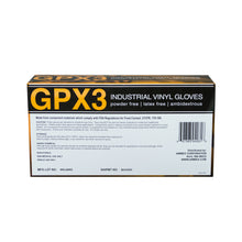 Load image into Gallery viewer, GPX3-Vinyl-Industrial-Latex-Free-Disposable-Gloves-Back