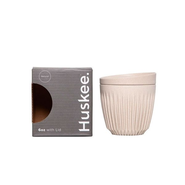 TAZA HUSKEE + TAPA NATURAL 180ml (6oz)
