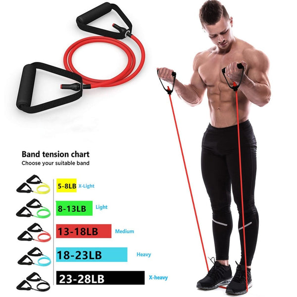 5 Level Resistance Bands with Handles
