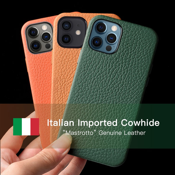 Italian Mastrotto Genuine Leather Case for iPhone - Luxury At Its Peek