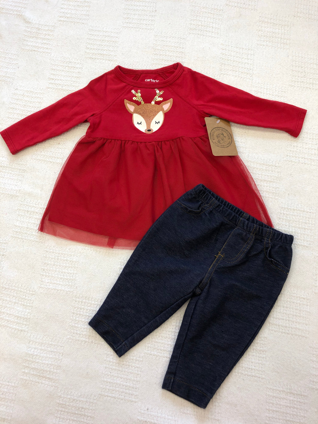 Girls 3m Red Deer Outfit IN161