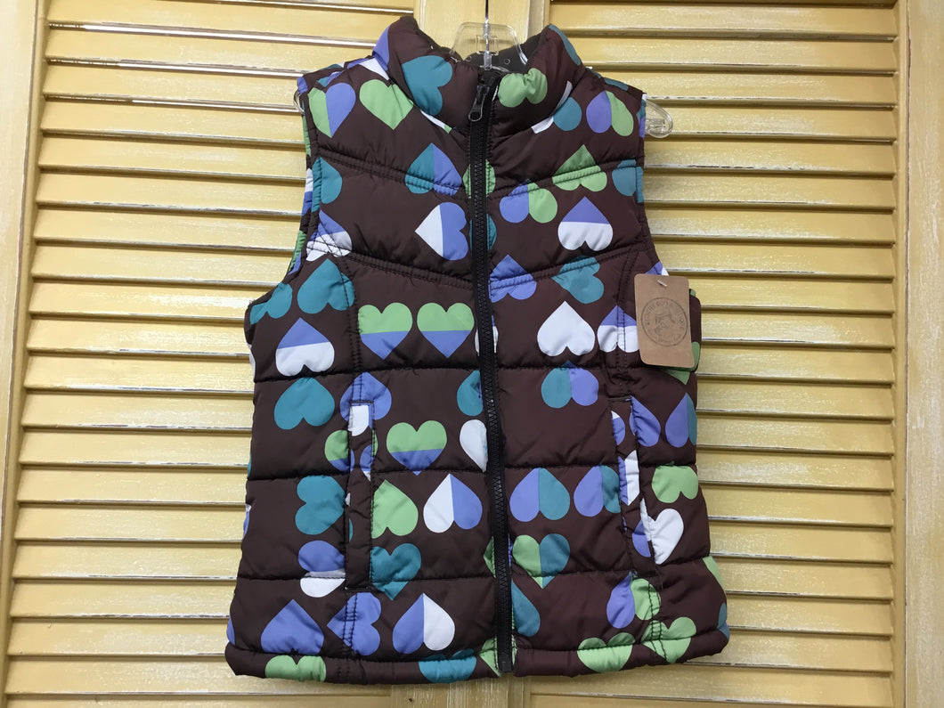 Girls 8 Heart Puff Vest IN132