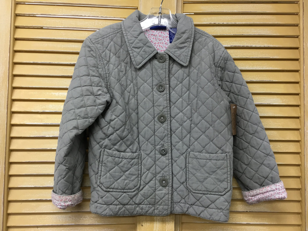 Girls 6 Olive Quilted Coat