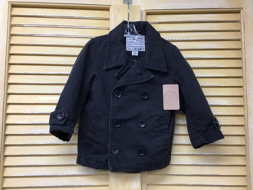 Boys 6-9m Coal Grey Trench Jacket IN296