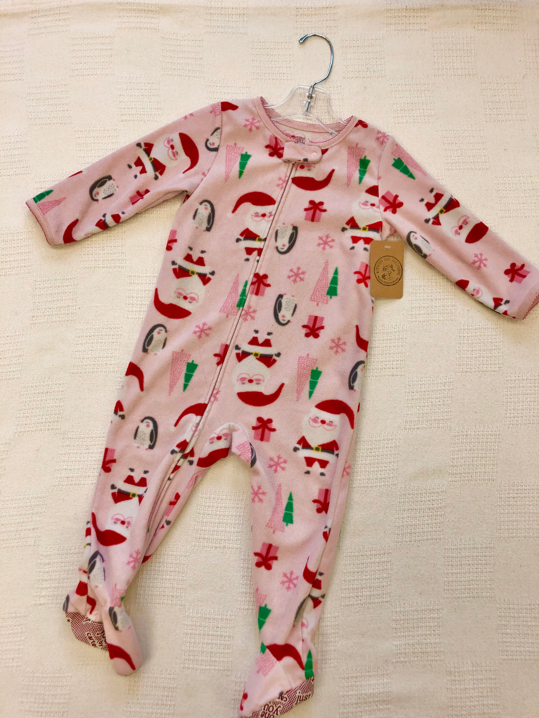 Girls 18m Pink Santa Sleeper IN203