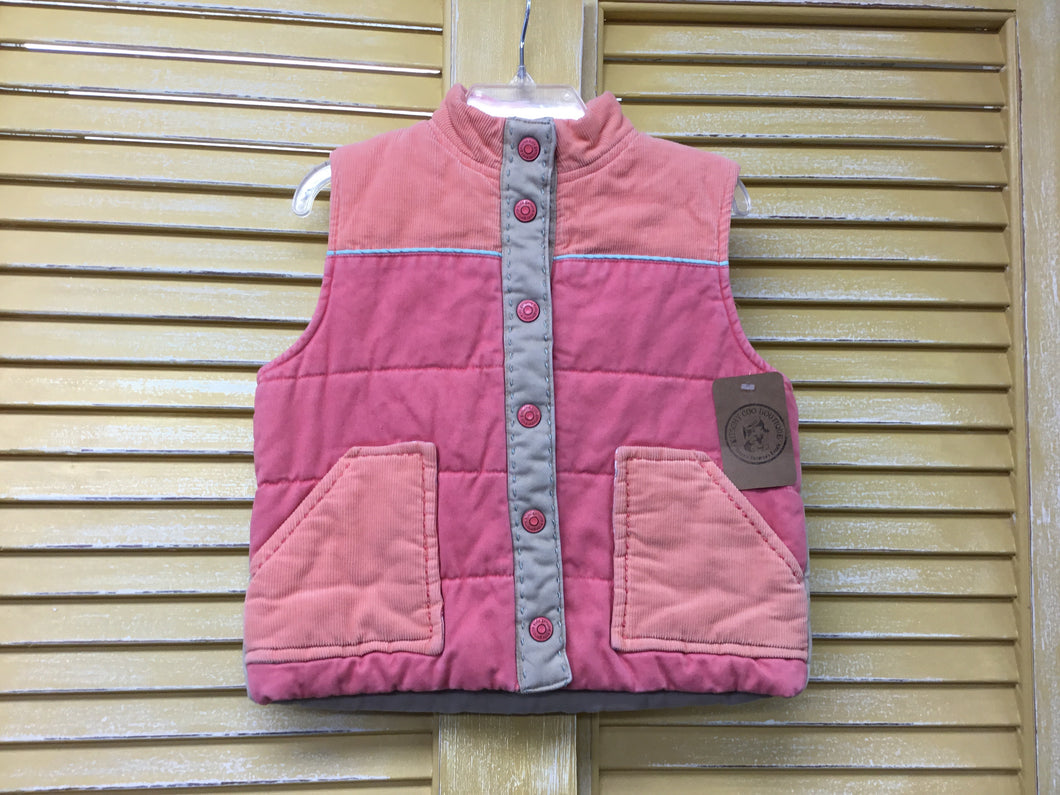 Girls 4 Peach Corduroy Vest IN156