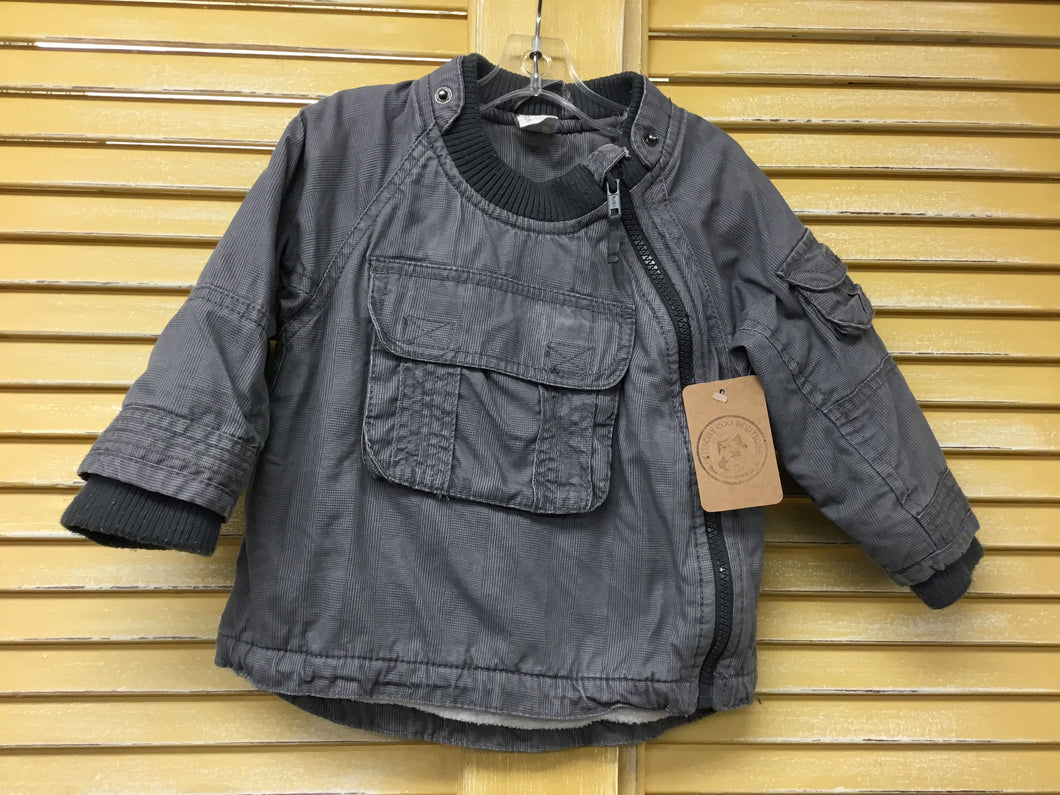 Boys 6-9m H&M Grey Cargo Jacket IN295