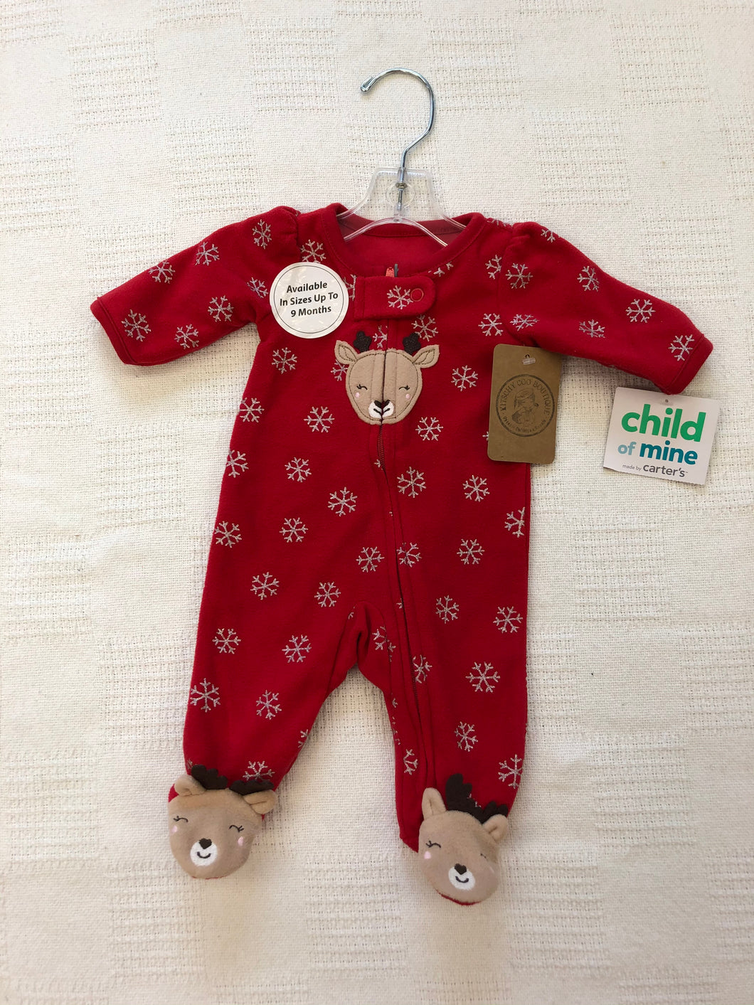 Girls Preemie Reindeer Sleeper NEW IN121