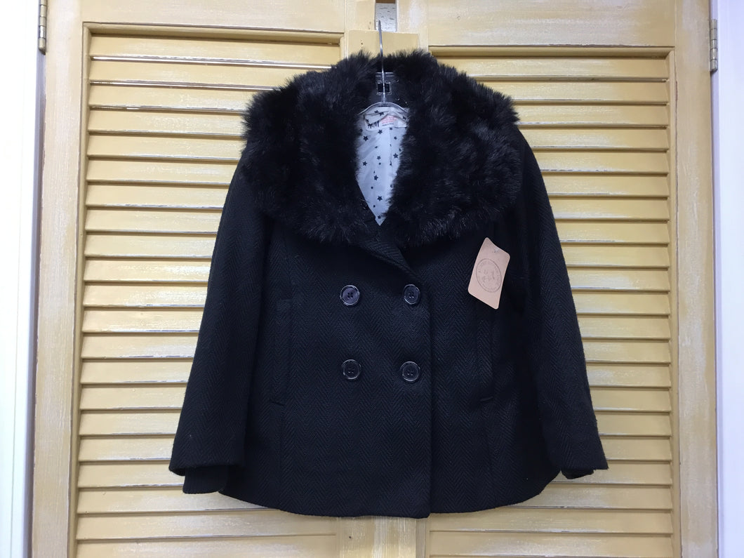 Girls 4/5 H&M Black Faux Fur IN155