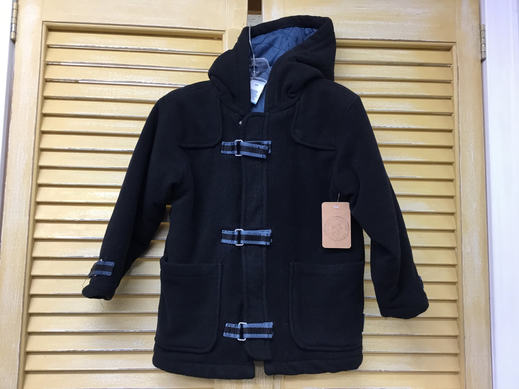 Boys 4 Black Fleece Coat IN308