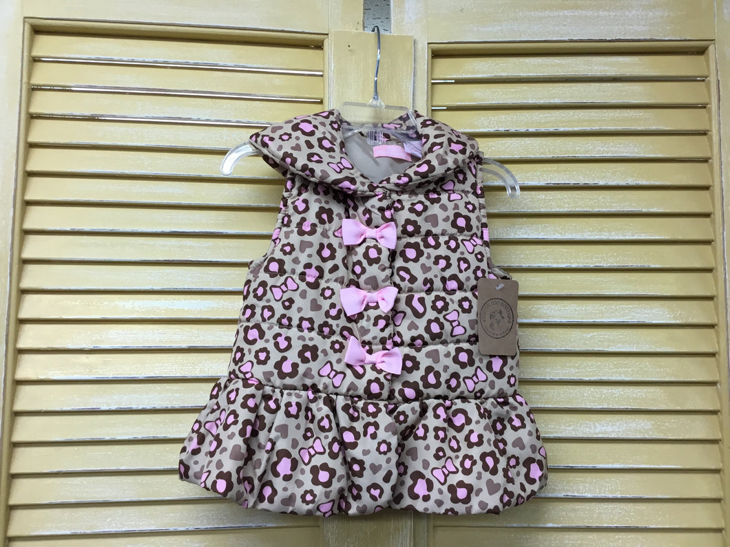 Girls 24m Cheetah Vest