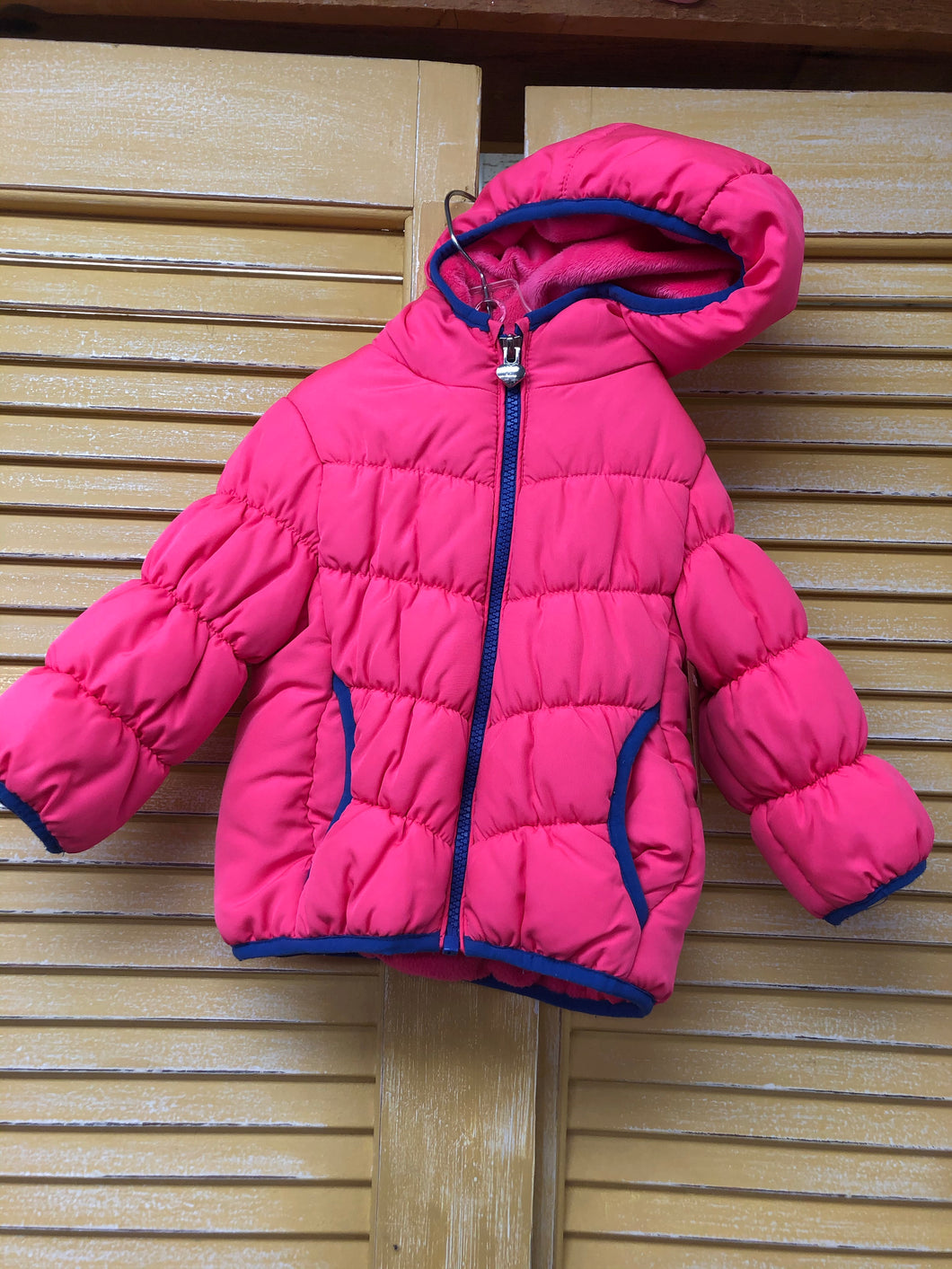 Girls 12m Hot Pink Puffer IN229