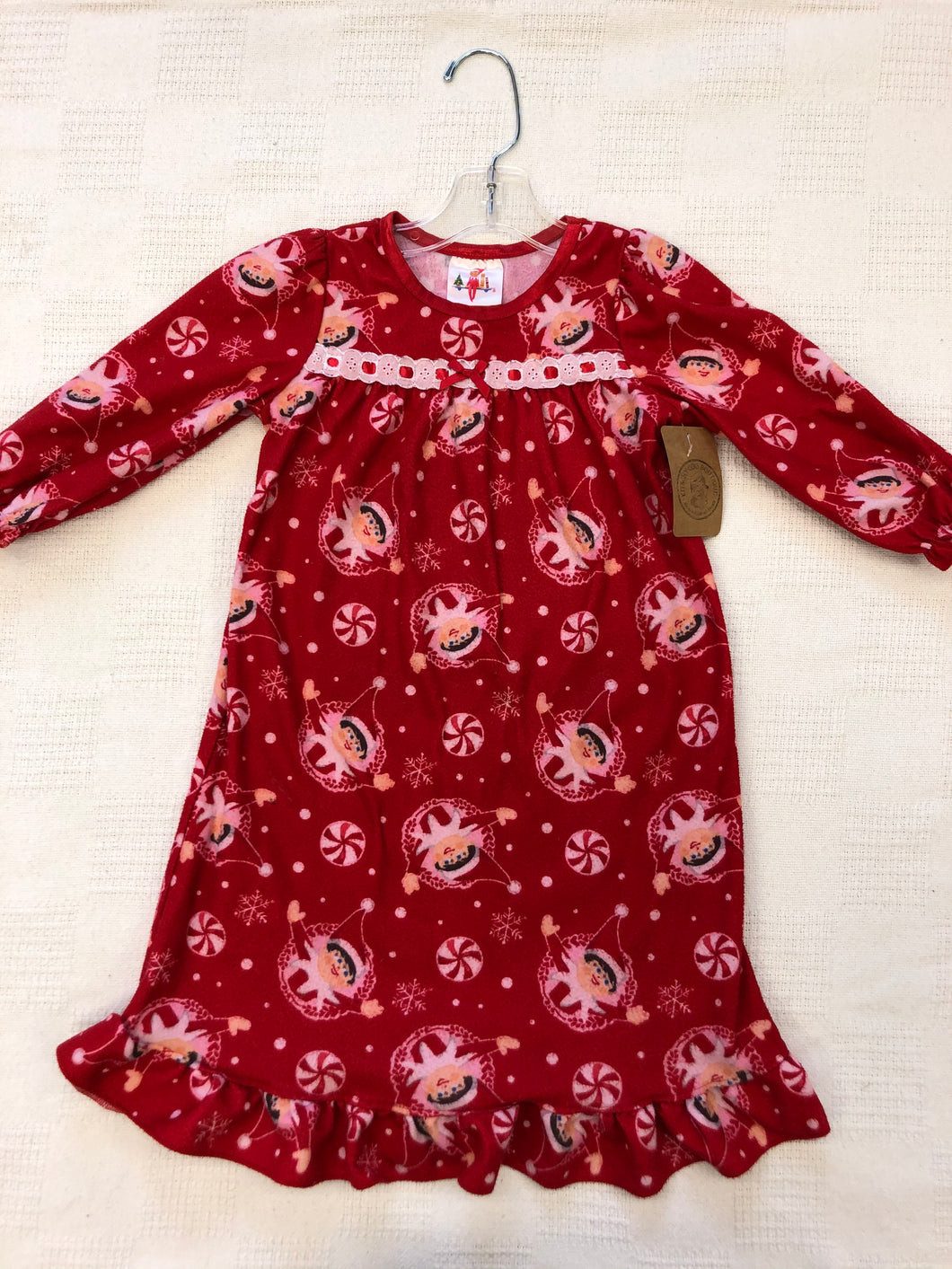 Girls 2 Elf On A Shelf Sleep Dress IN193
