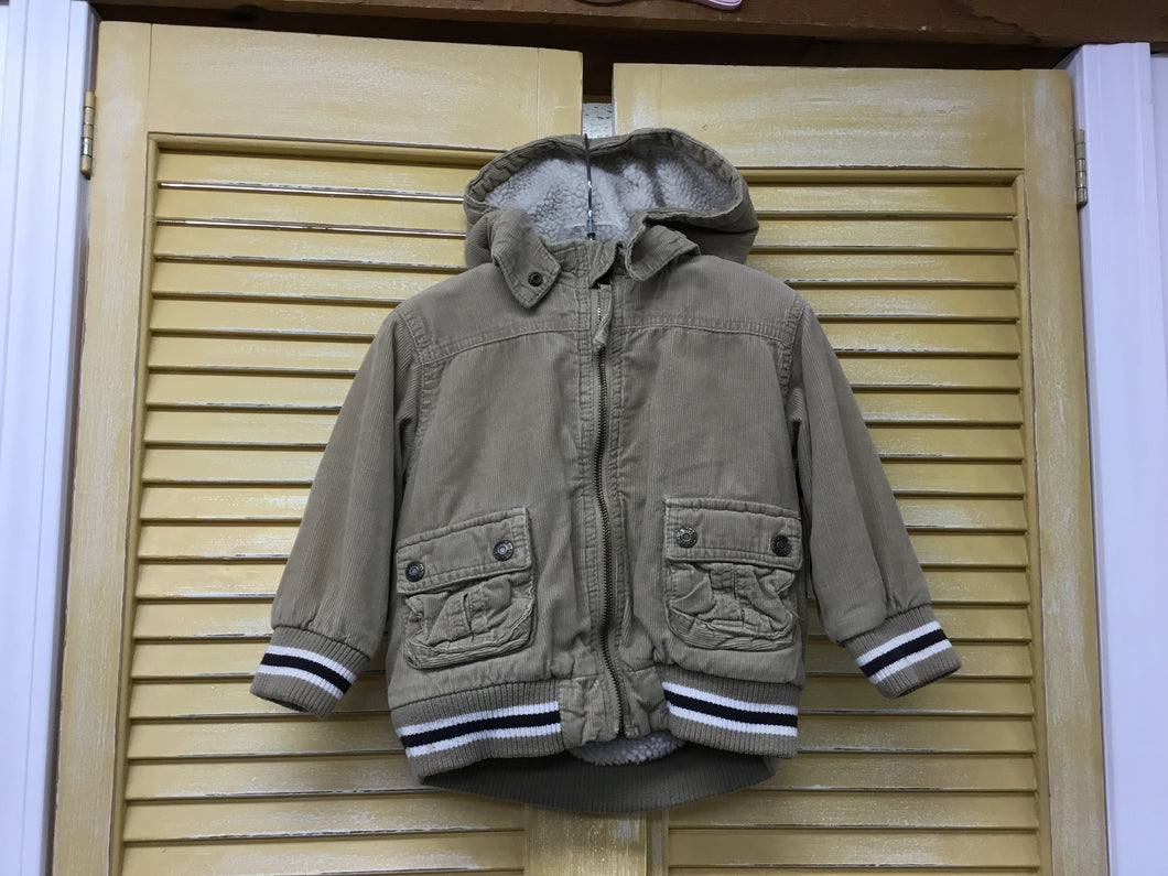 Boys 3 Beige Corduroy Coat IN319