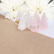 Load image into Gallery viewer, Saski Ring Holders in Rose and Clear Quartz (Pair)