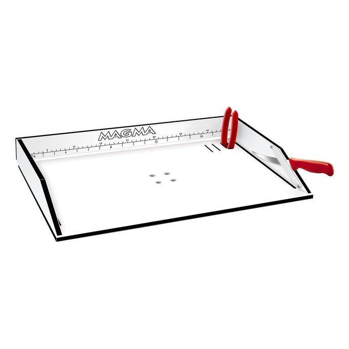 bait/fillet table with pliers and fillet knife